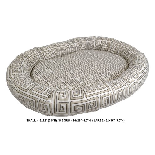 Tucker Murphy Pet Daniella Neo Keys Indoor/Outdoor Bolster Pet Bed