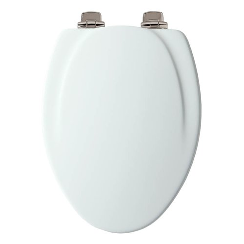 Mayfair 130CHSLB Wood Elongated Slow-Close Toilet Seat, White by Mayfair