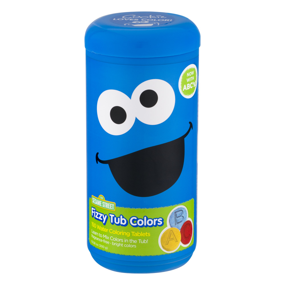 Sesame Street Fizzy Tub Colors, Assorted Bathwater Colors, 150 Ct.