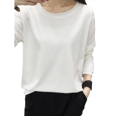 7c10747cfc5fe Babula - Babula Women Solid Color Long Sleeve Casual Loose T Shirt Tops -  Walmart.com