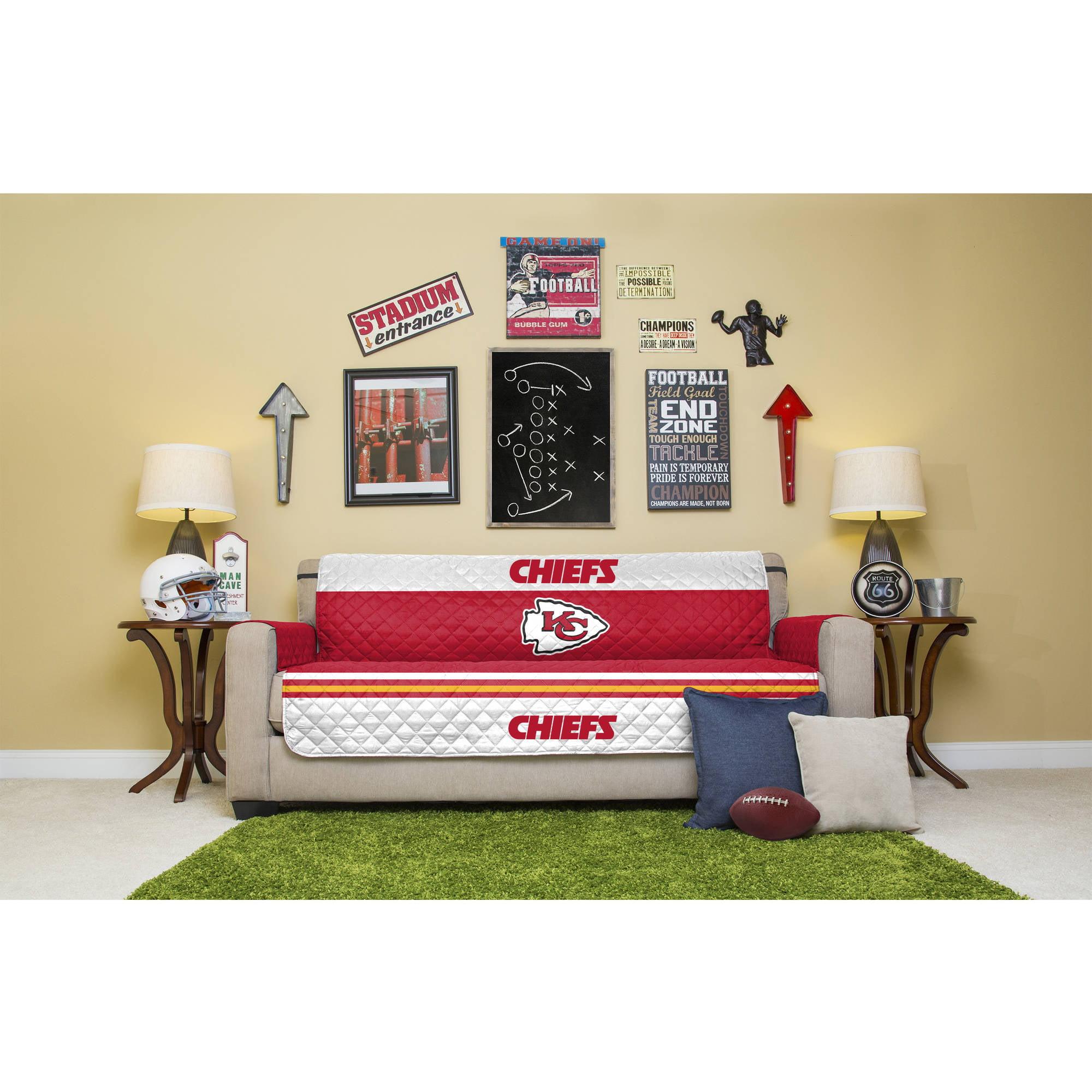 Nfl Licensed Furniture Protector Sofa, Living Room Furniture Kansas City