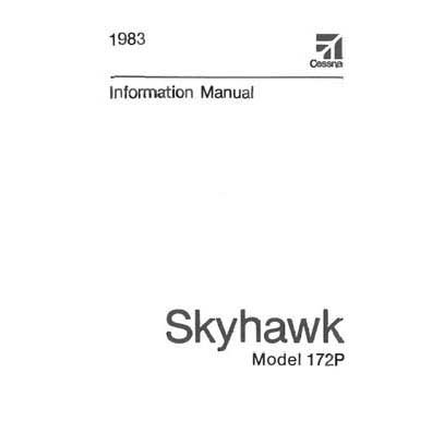 Cessna 172P & Skyhawk 1983 Pilot's Information Manual