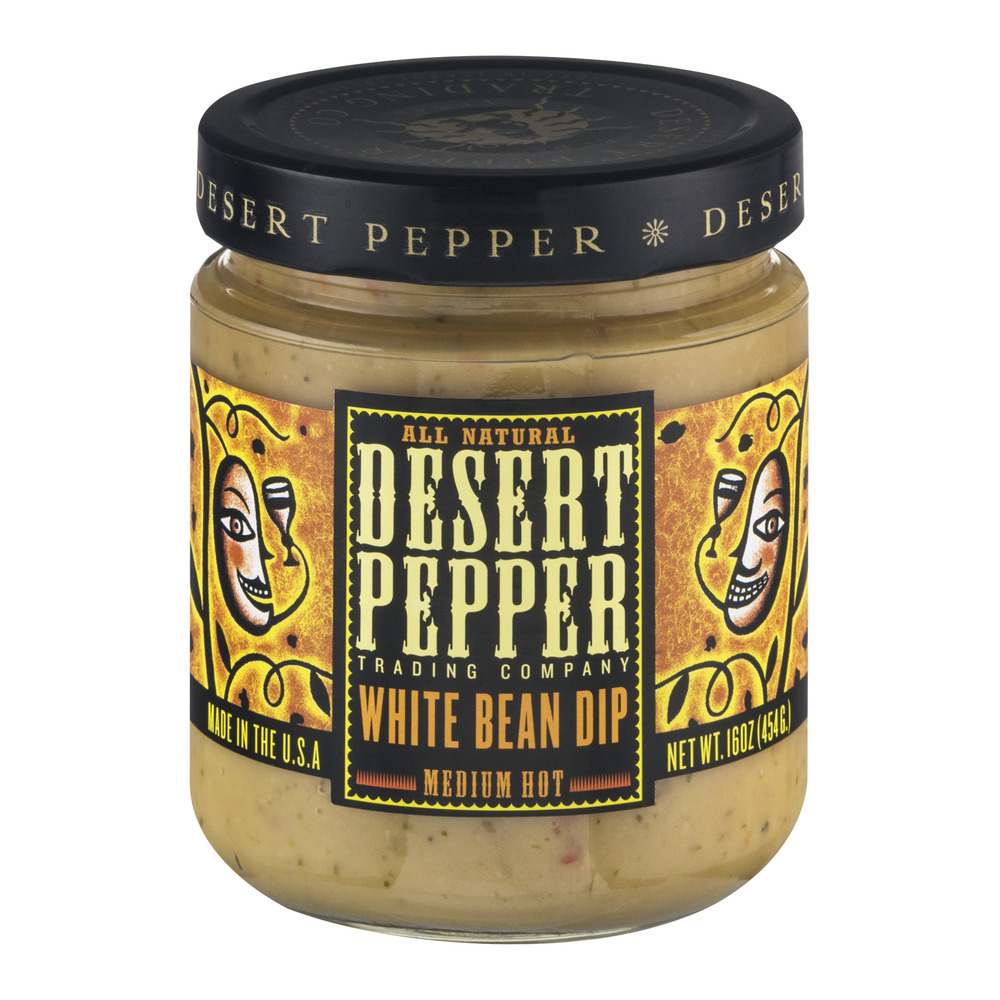 Desert Pepper Trading Company White Bean Dip Medium Hot, 16.0 OZ