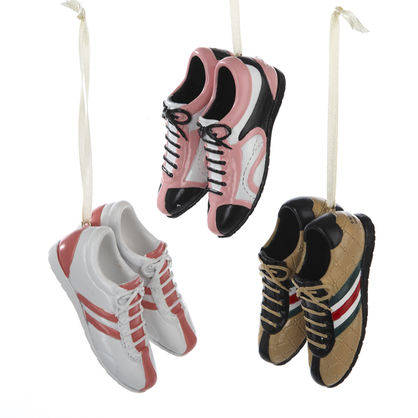 Club Pack of 12 Fashion Avenue Bowling Sneaker Shoes Christmas Ornaments 3""
