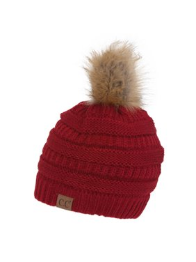 5b4cce9cf1637 Product Image Gravity Threads Cable Knit Faux Fur Pom Pom Beanie Hat
