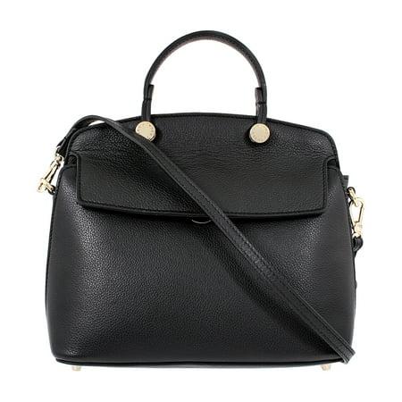 Furla My Piper Ladies Small Black Onyx Leather Shoulder Bag -