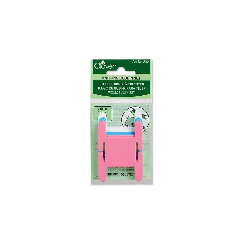 "Clover Plastic Knitting Bobbins, 6-Pack, 1.5"" x 2.5"