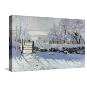 The Magpie, 1869 Stretched Canvas Print Wall Art By Claude Monet