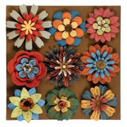 Wilco Home 9 Piece Flower Magnet Wall D cor Set