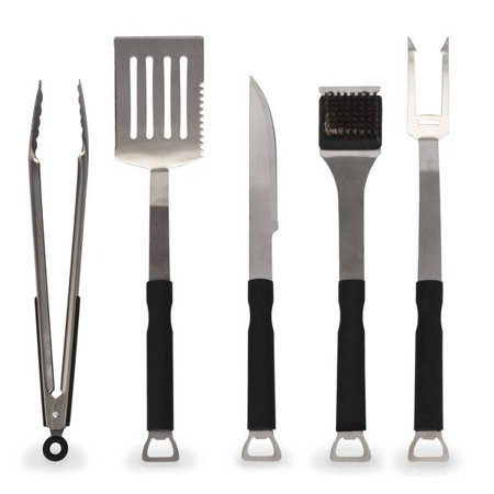 BBQ Grill Tools Set With Non-Slip Handles - BEST Grilling Utensils Includes Spatula Barbecue Fork & Tongs