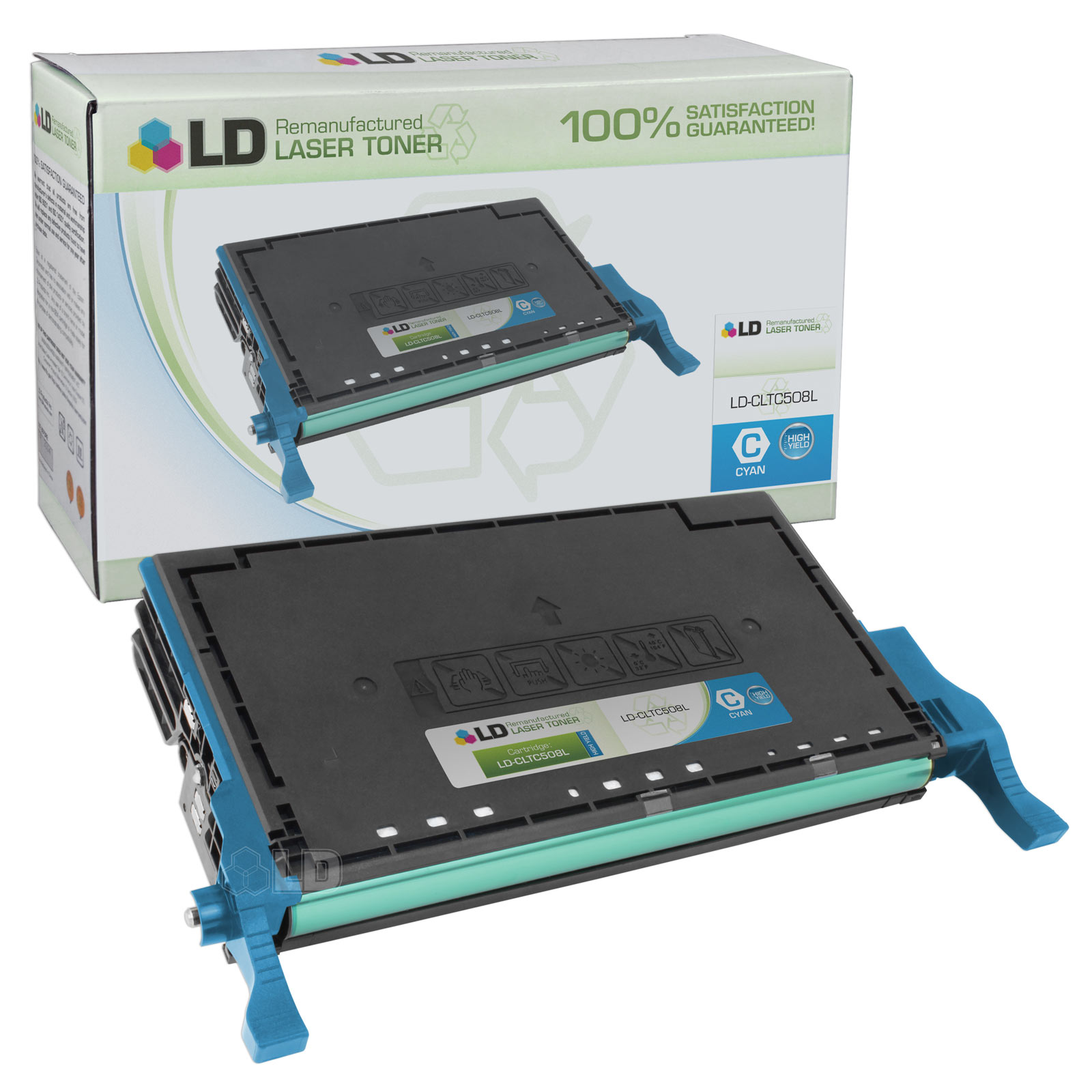 LD Replacement CLT-C508L High Yield Cyan Laser Toner Cartridge for use in the CLP-620ND, CLP-670N, CLP-670ND, CLX-6220FX