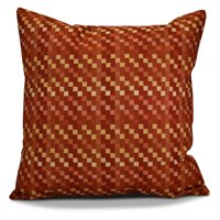 E by Design Mad for Plaid Pixel Print Outdoor Pillow