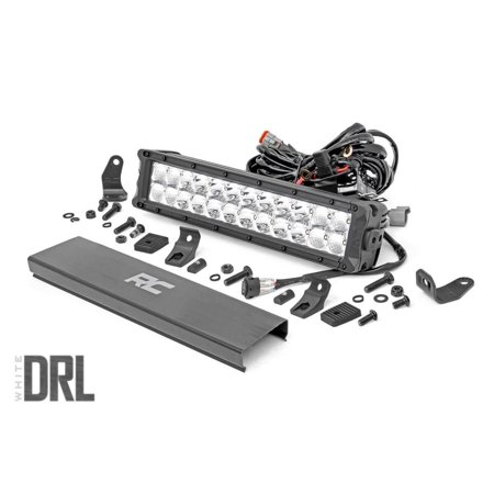 "Rough Country 12"" CREE LED Dual Row Light Bar with Cool White DRL"