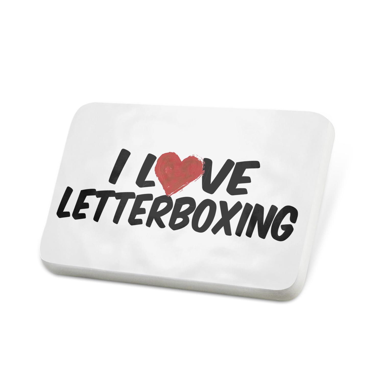 Porcelein Pin I Love Letterboxing Lapel Badge – NEONBLOND