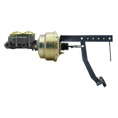 "NEW 8"" Dual Power Brake Booster Pedal Firewall Mount Bracket Assembly Street Rod"