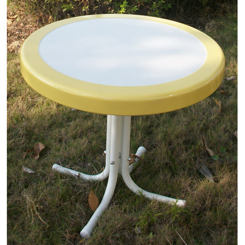 Retro Outdoor Bistro Table, Multiple Colors