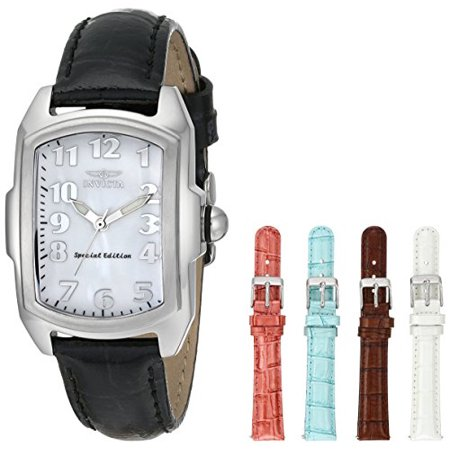 Invicta Women's 5168 Baby Lupah Collection Mother-of-Pearl Dial Shiny Leather... Pearl Dial Leather Lizard