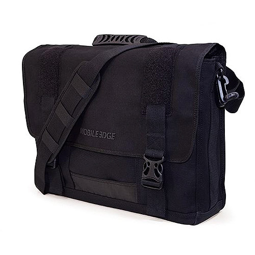 Mobile Edge Eco-Friendly Canvas Messenger Bag, Black