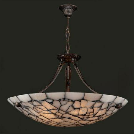 "Worldwide Lighting W83802F24 Pompeii 5 Light 24"" Down Lighting Pendant in Flemis"