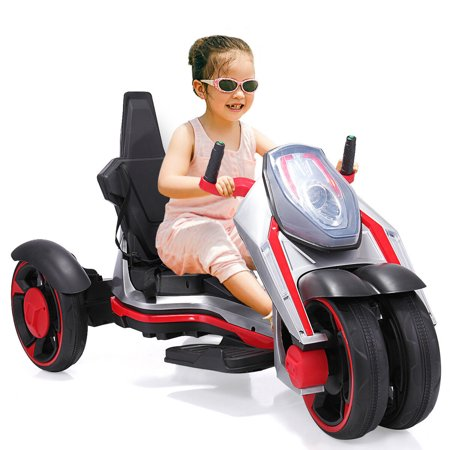 Top Knobs Electric Ride On Toys For Boys & Girls, Kids Go Kart Pedal Car With Headlights, MP3, Music ()