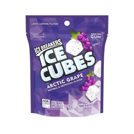 (Ice Breakers, Ice Cubes, Arctic Grape Gum, 8.11 Oz)