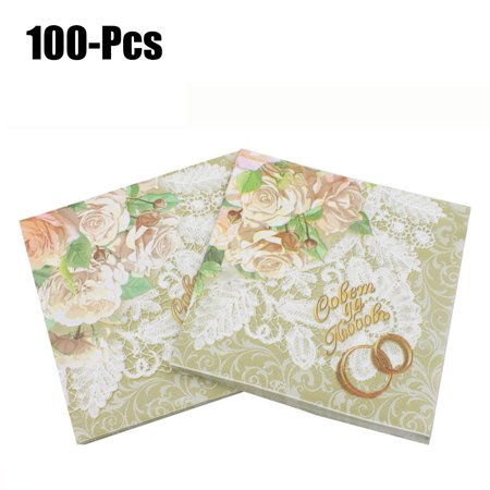 100pcs party napkinsjustdolife decorative romantic floral paper 100pcs party napkinsjustdolife decorative romantic floral paper napkins beverage napkins for wedding birthday party mightylinksfo