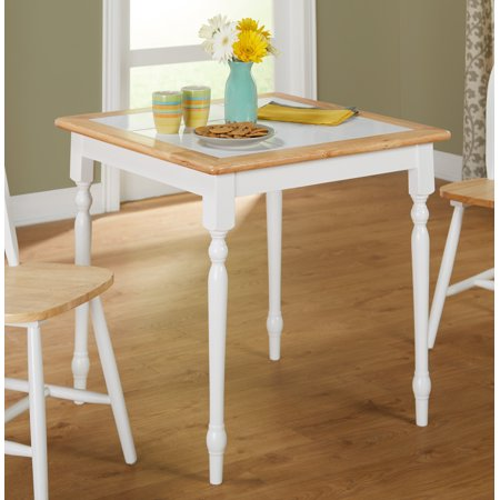 Tms Tile Top Square Dining Table White Natural