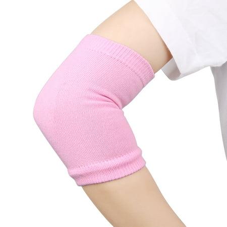1 Pair Spa Skin Care Moisturizing Exfoliating Elbow Gel Cover Sleeves Pink