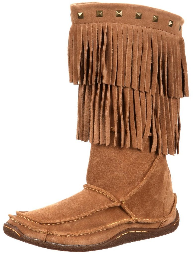 Durango Casual Boots Womens Santa Fe Fringe Moccasin Sand DCRD101 by Durango