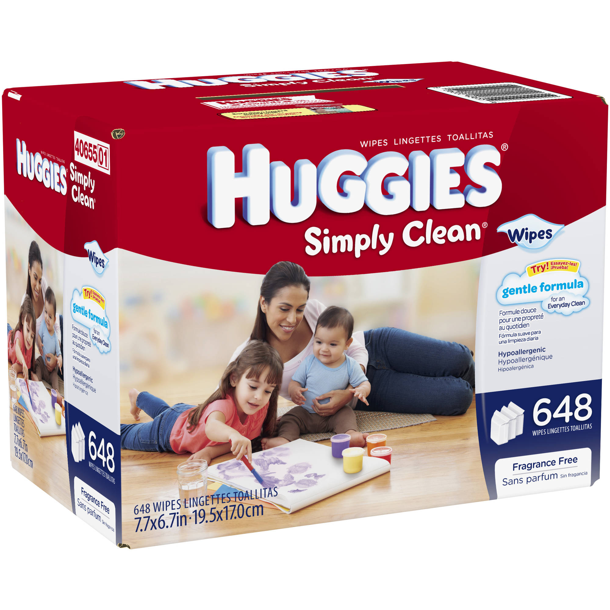 HUGGIES Simply Clean Baby Wipes Refill, 648 sheets