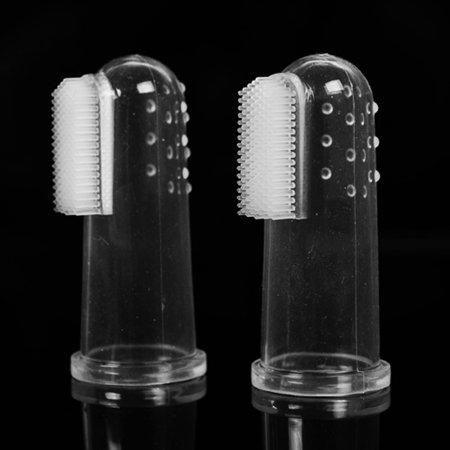 Mosunx Super Soft Pet Finger Toothbrush Teddy Dog Brush Bad Breath Tartar Teeth Tool