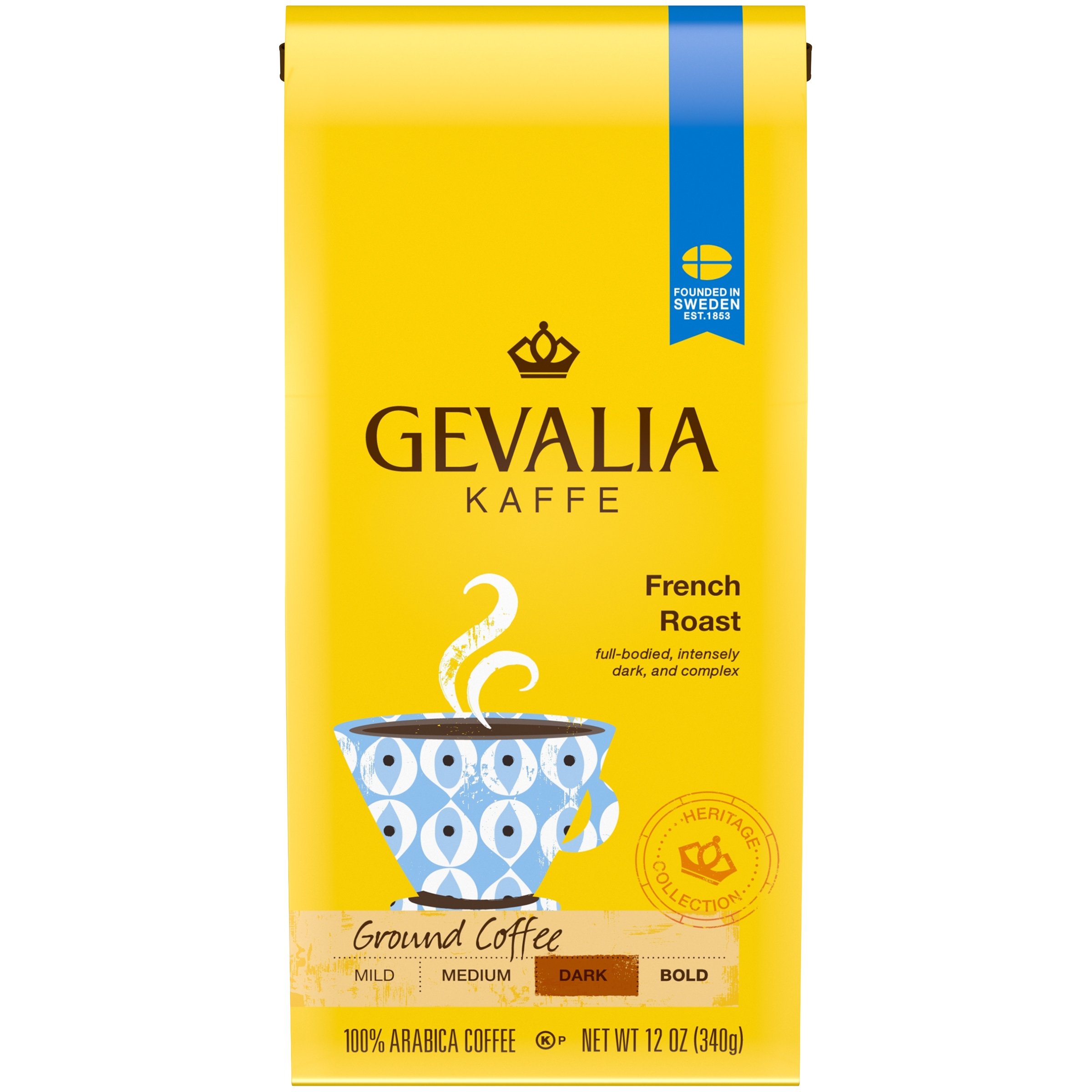 Gevalia Heritage Collection French Roast Ground Coffee 12 oz. Bag