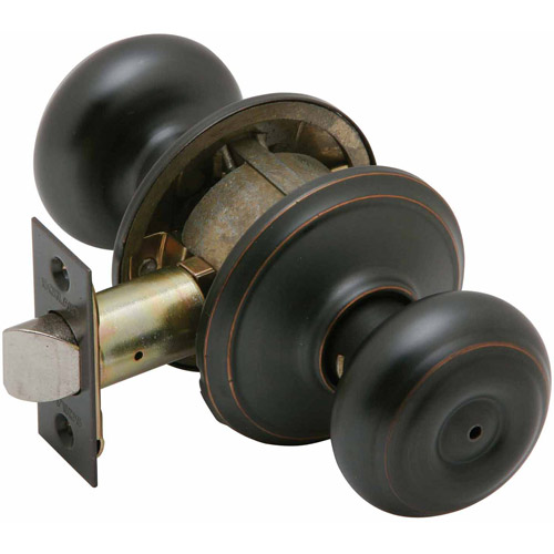 Schlage F40VGEO716 Aged Bronze Georgian Knob Privacy Set