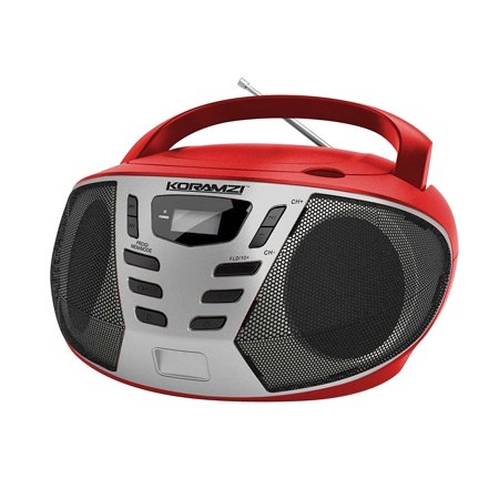 koramzi portable cd boombox w am fm radio aux in top. Black Bedroom Furniture Sets. Home Design Ideas