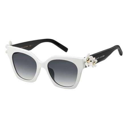 MARC JACOBS Marc Daisy/S CCP 9O Sunglasses White Black Frame Grey Lenses 52mm