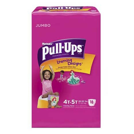 Youth Training Pants Pull-Ups Learning Designs Pull On 4T - 5T Disposable ''Case of 72''