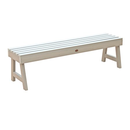 Style Backless Bench - highwood® Weatherly Recycled Plastic Backless Bench