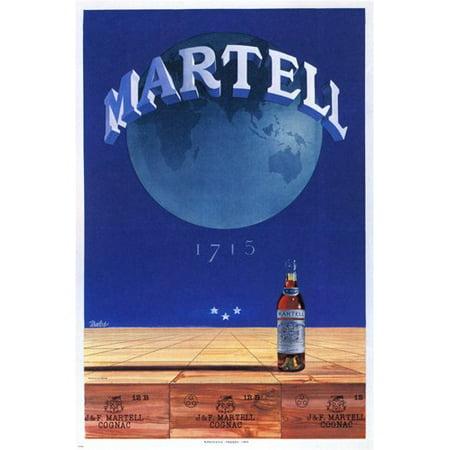 Martell Vsop Cognac - Martell Cognac Vintage Ad Poster France 1955 24X36 Collectors Excellent