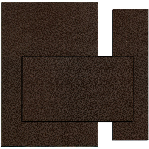 Ivy 3-Piece Rug Set, Chocolate
