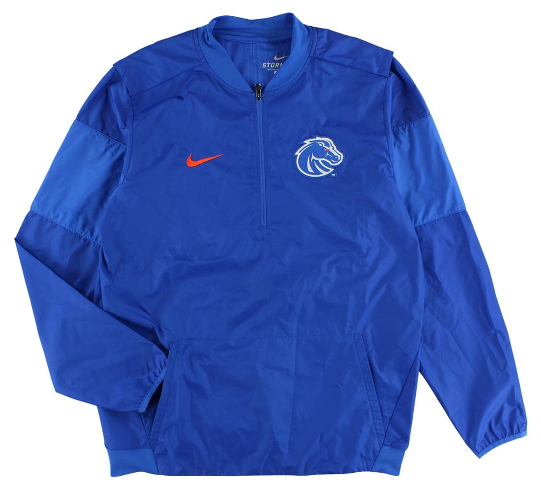 Nike Mens Boise State Broncos Lockdown Quarter Zip Jacket Royal Blue M by Nike