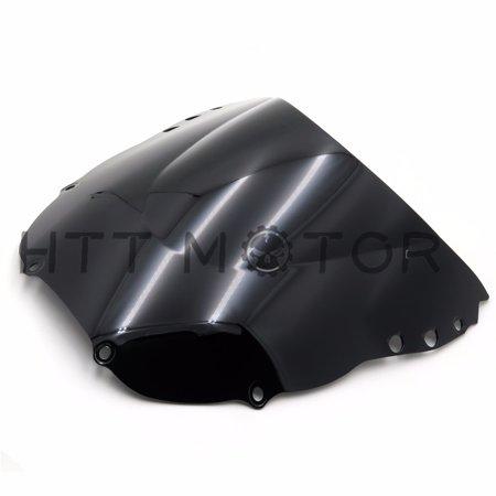 HTTMT- Smoke Black ABS Motorcycle Windshield Windscreen For Honda CBR900RR 1998-1999 ()