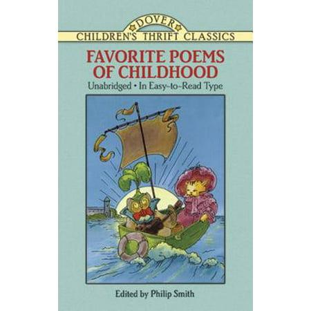 Favorite Poems of Childhood - eBook - Children's Halloween Poems