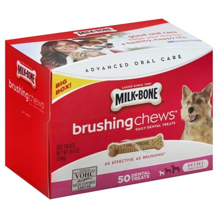Natural Dental Chews - Milk-Bone Brushing Chews Mini, 19.6-Ounce