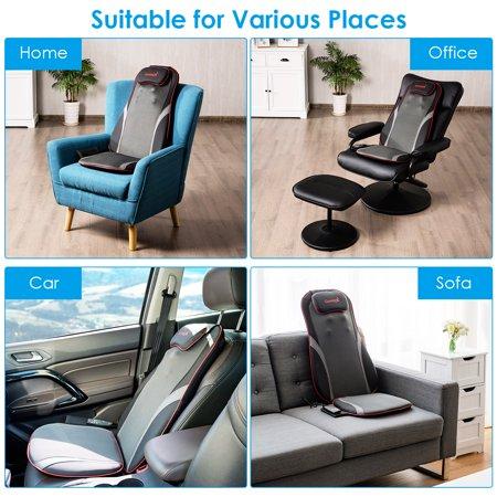 Shiatsu Neck Back Massage Seat Cushion w/ Hip Vibration & Heating Function - image 7 of 10