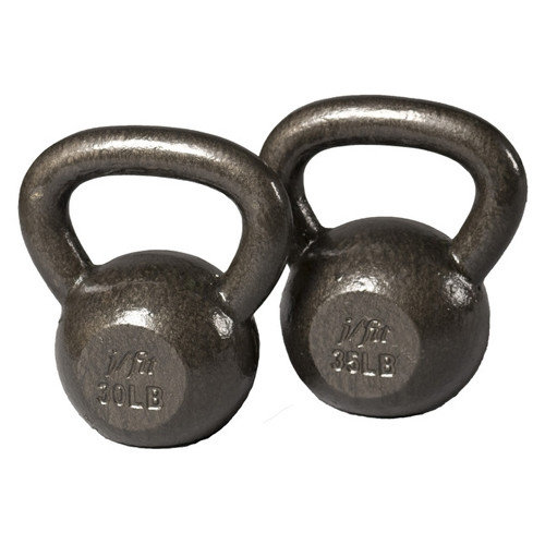 J Fit 30-35 lbs Cast Iron Kettlebell Set
