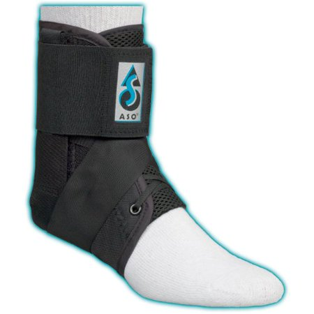 Ankle Stabilizing Orthosis W Inserts  Xsmall   Black   Plastic Stays  Enhance Proprioceptive Protection  Especially During Acute Phase Of Ankle Sprain Treatment By Aso