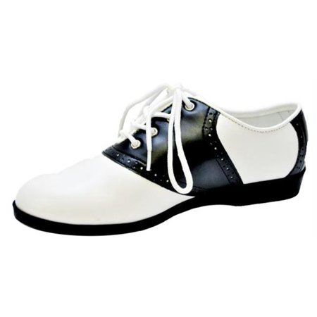 MorrisCostumes HA64BW9 Shoe Saddle Black With Womenn-9 - Saddle Shoe