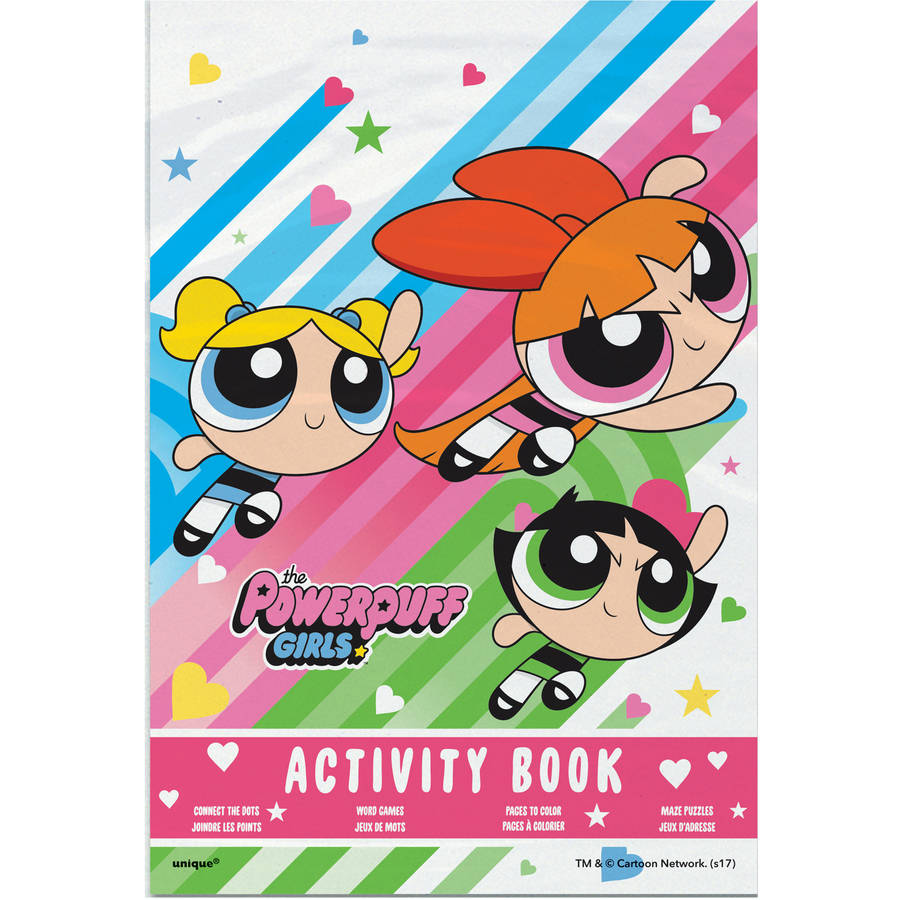 Powerpuff Girls Activity Book Party Favors, 4ct