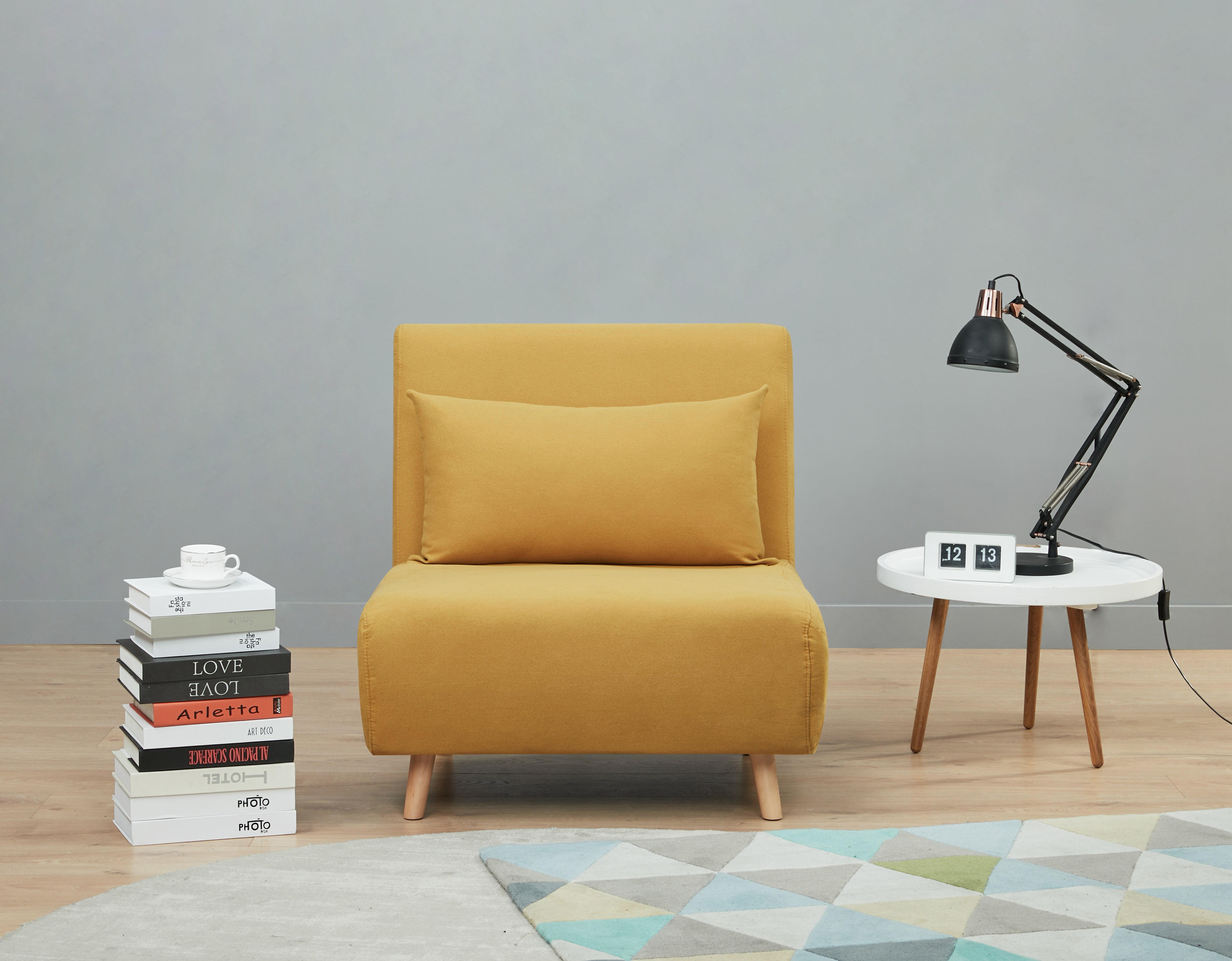 A D Home Tustin Convertible Chair Mustard Yellow Walmart Com Walmart Com