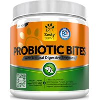 Zesty Paws Probiotic for Dogs, With Natural Digestive Enzymes + Prebiotics & Pumpkin, 90 Soft Chews